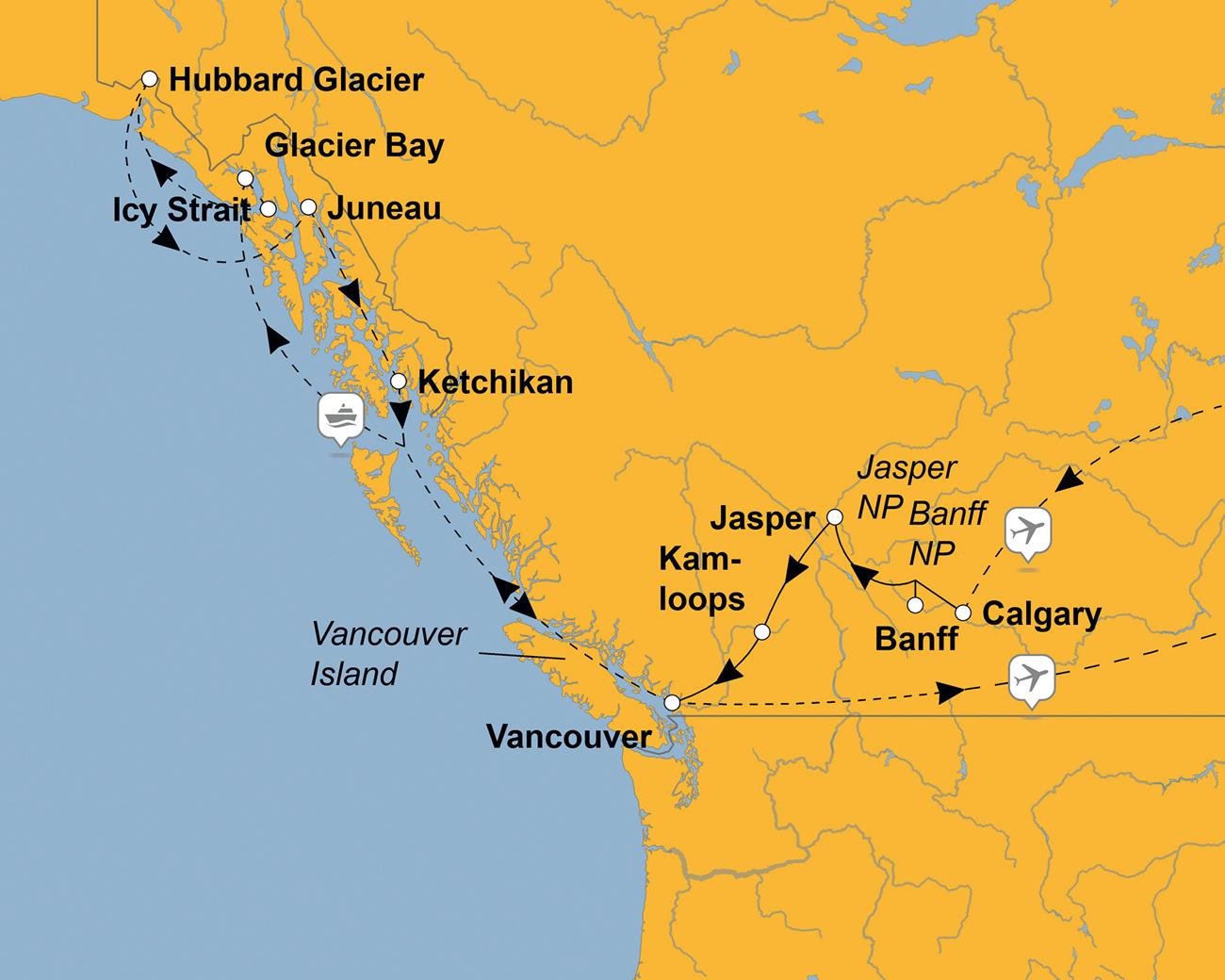Kanada: Goldrausch, Grizzlys und Gletscher – sz-Reisen ...