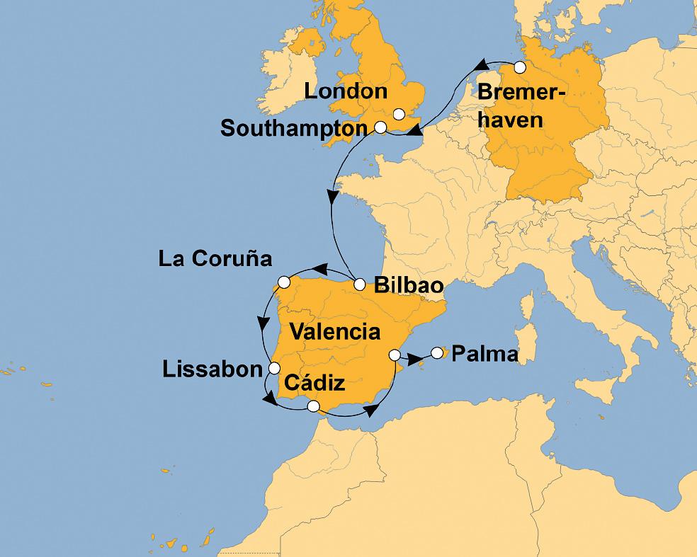 MEIN SCHIFF 3: Atemberaubende Atlantikküste – von ...