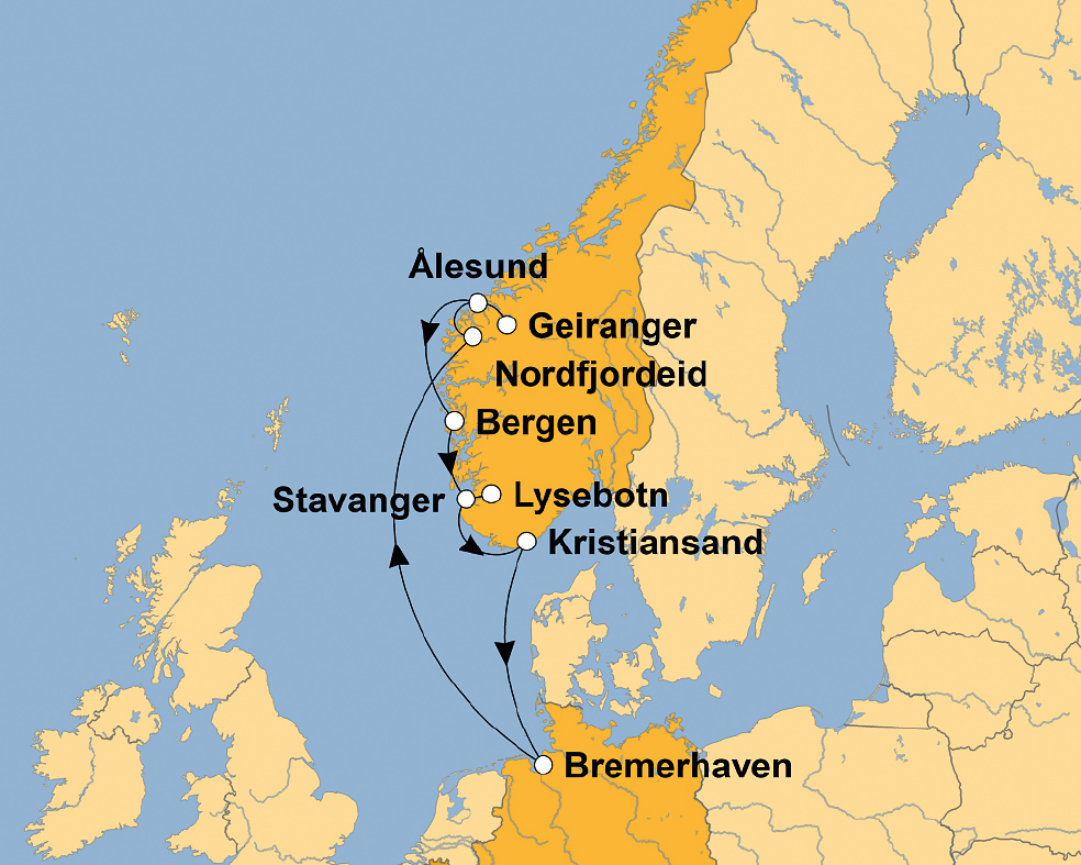 MS ALBATROS: Imposante Fjordwelt Norwegens – sz-Reisen ...