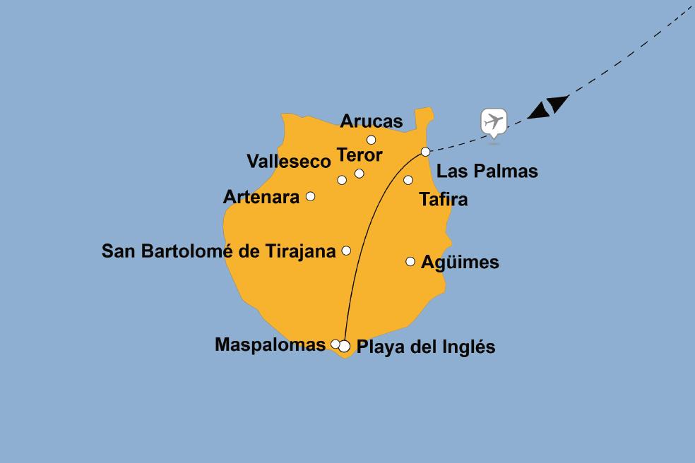 Gran Canaria Karte Flughafen.Silvester Auf Gran Canaria Sz Reisen Reisen Sie Mit Uns Um Die