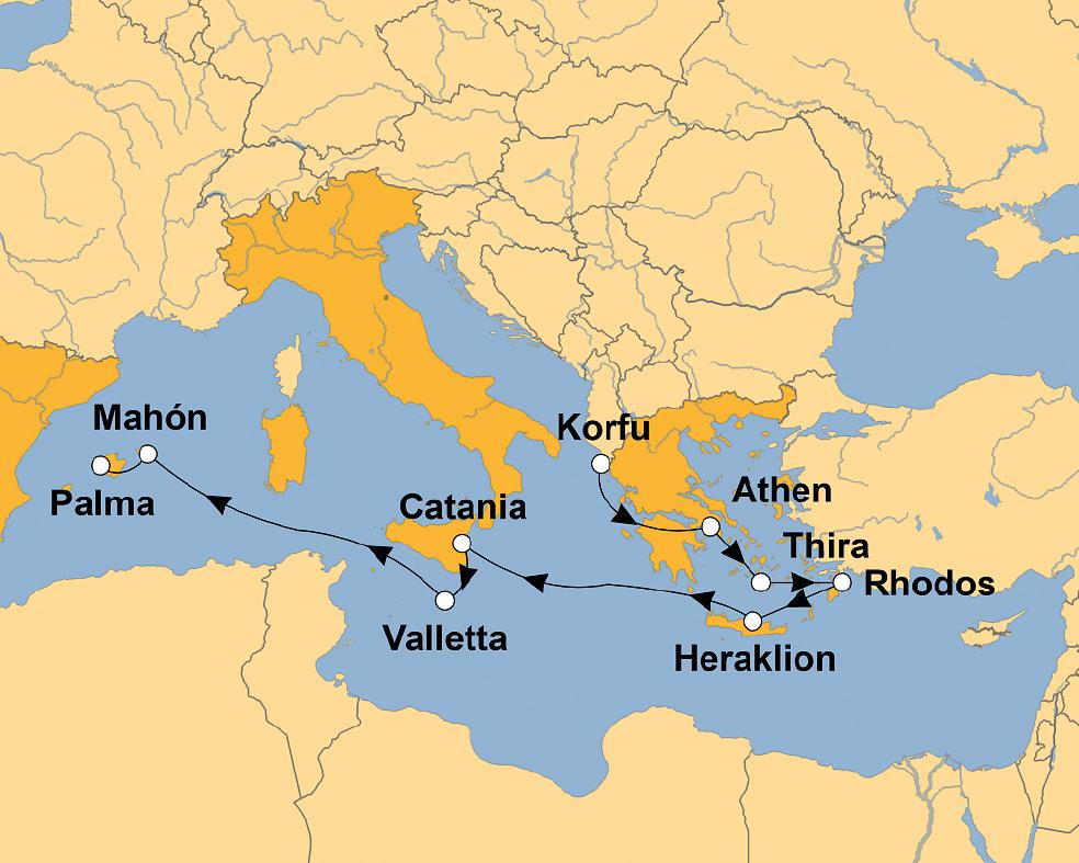 AIDAcara: Im Fahrwasser von Odysseus – sz-Reisen - Reisen ...