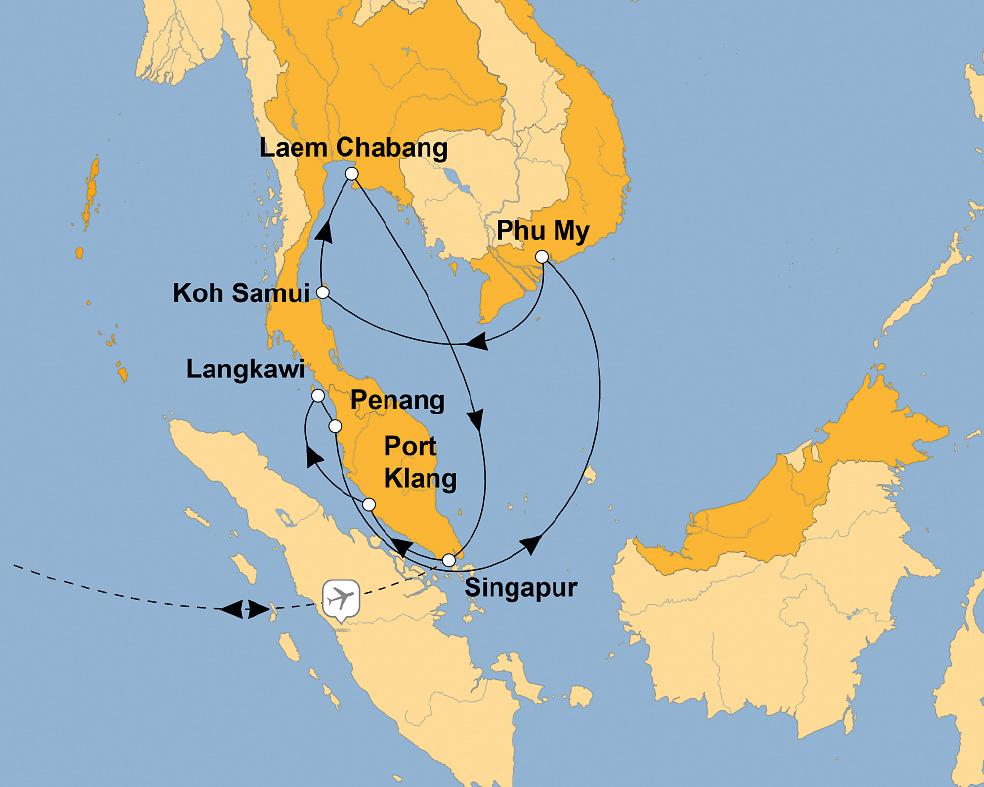 MEIN SCHIFF 6: Asien mit Singapur – sz-Reisen - Reisen Sie ...