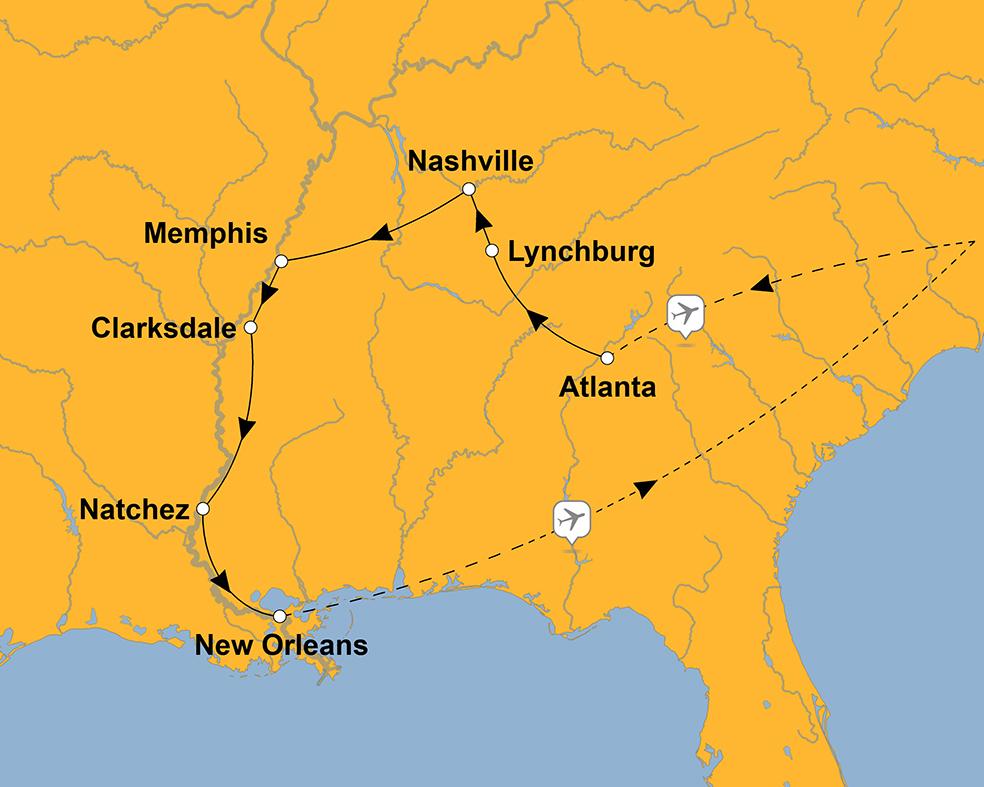 Indianerstamme Nordamerikas Karte.Rundreise Durch Die Sudstaaten Der Usa Sz Reisen Reisen