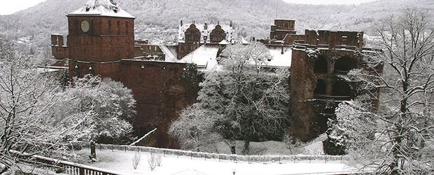 Heidelberg, Schloss im Winter © Heidelberg Marketing GmbH